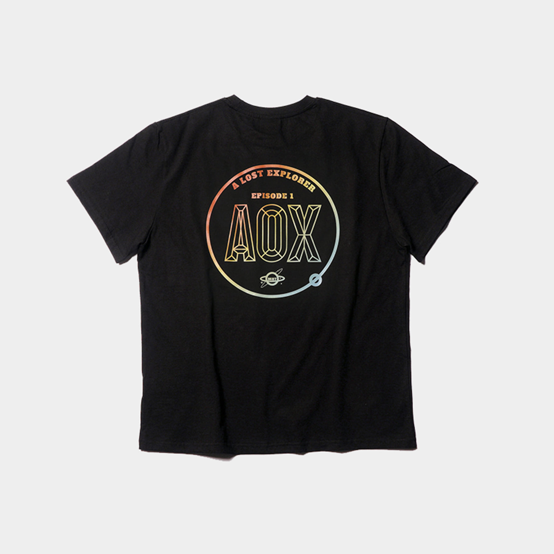 Gradation color Orbit T-shirt