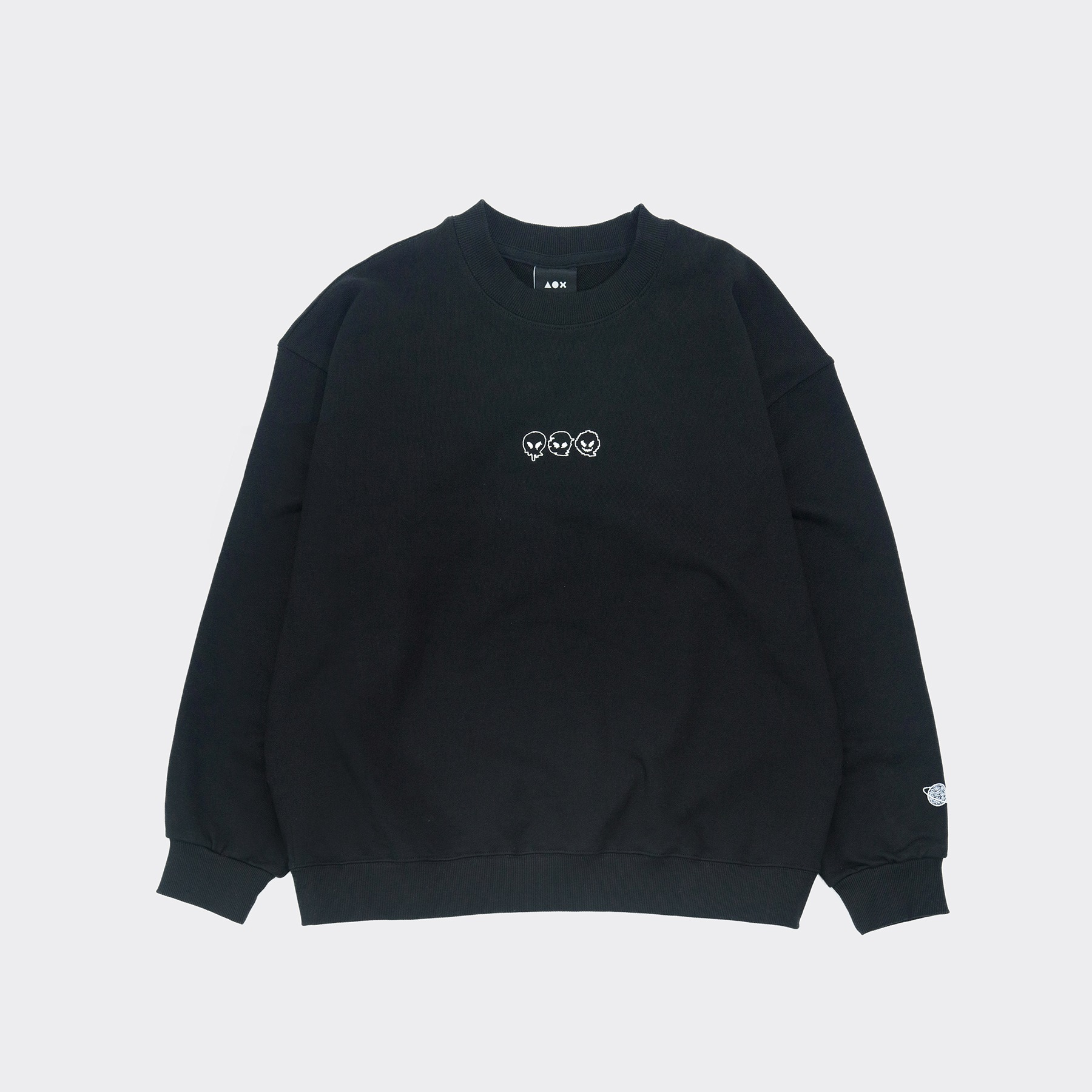 Signature3 sweatshirt(Oversize fit) Black