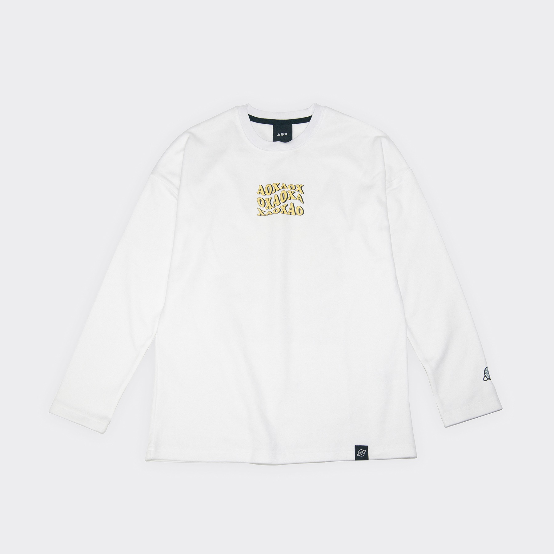 WAVE logo Long sleeve T-shirts(semi-over fit) White