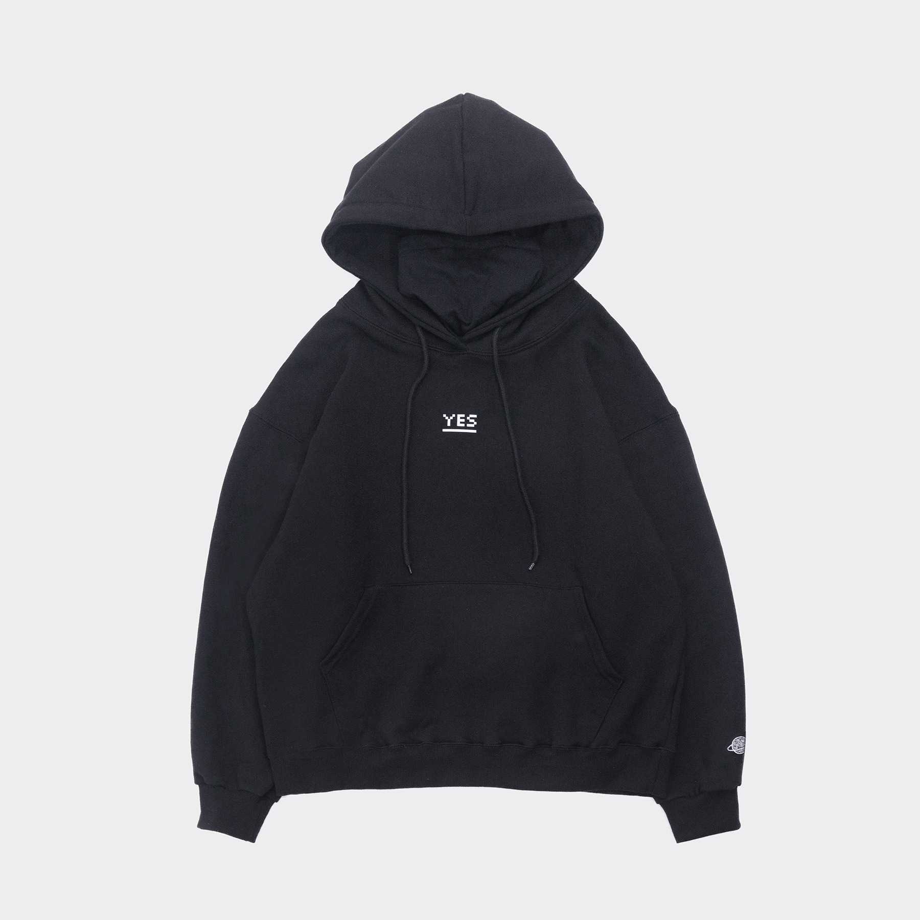 YES Mask Hoodie(Oversize fit) Black