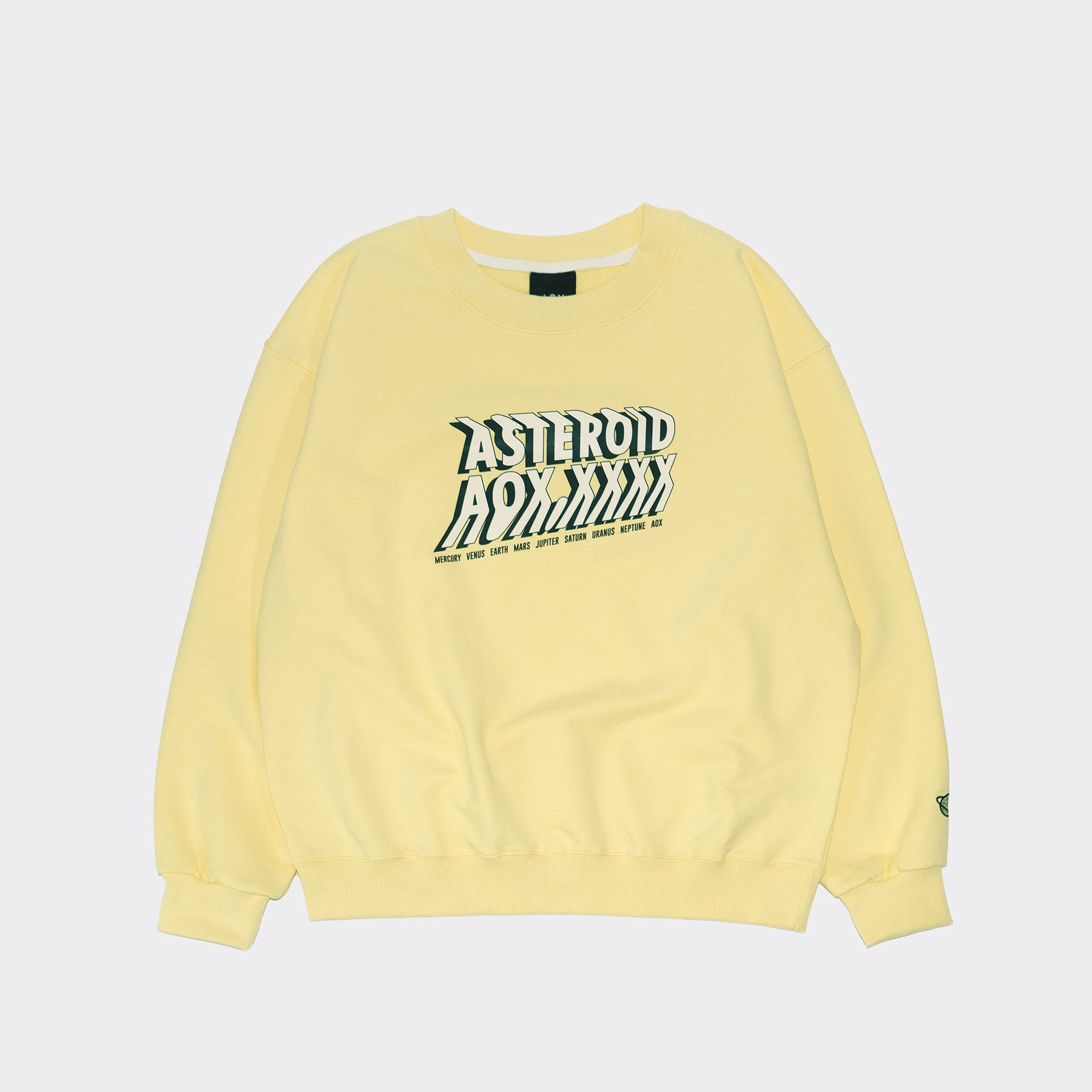 ASTEROID sweatshirt(Oversize fit) Yellow